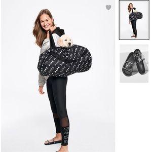 """VS Pink """"Black"""" Duffle Bag & Slides-New in Package"""